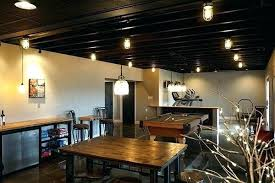 basement ceiling lighting. Exposed Ceiling Lighting For Basement Best Basements Before And Afters Installing Recessed In .