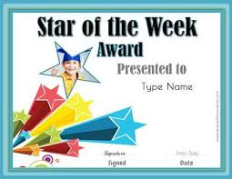 Star Student Chart Star Of The Week Printables Customize With Your Photo And