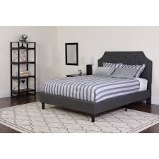 twin upholstered platform bed.  Platform Our Brighton Twin Size Tufted Upholstered Platform Bed In Dark Gray  Fabric Is On Sale Now Inside T