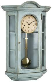 hermle 70305 lb0341 faulkner distressed finish curio wall clock