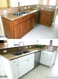 awesome how to paint old wood kitchen cabinets of painting oak kitchen cabinets white before and
