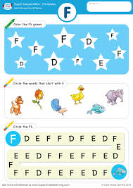 Download, print, or use the kindergarten our phonics worksheets offer the beginning stage of making the connection by identifying the first letter. Letter Recognition Phonics Worksheet F Uppercase Super Simple