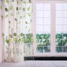 Moderne Tüll Vorhänge Tulpen Druck Kurz Sheer Vorhänge Für