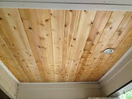 Plywood Plank Ceiling Porch Ceiling Rejuvenation Tongue And Groove Cedar With One Coat