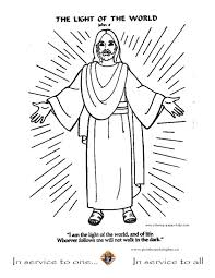 stylish page jesus is the light of the world coloring page f83 in stylish image