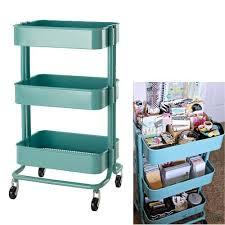 New IKEA Raskog Kitchen Cart Organizer with Wheels Mobile Storage Turquoise  | eBay
