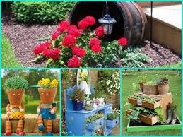 Small Picture Lovable DIY Garden Decor Ideas Garden Decorating Ideas On A Budget