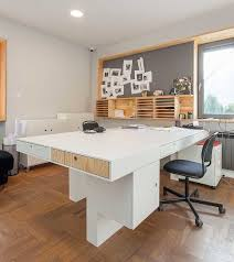 modern office images. A Modern Office In Poland With Modular Elements Made Of Plywood Images T