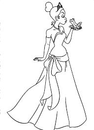 princess and the frog coloring stunning disney princess coloring pages tiana
