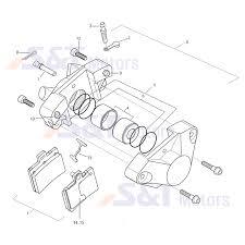 F47a brake caliper rear fixed caliper