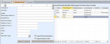 Excel Membership Template Microsoft Access Membership Tracking Database Template