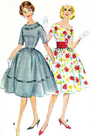 1950s Dress Patterns Delectable 48s Dress Pattern McCalls 48 Day Evening Full Skirt Kimono