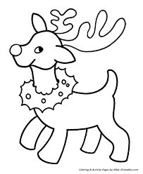 Small Picture Easy Pre K Christmas Coloring Pages Christmas Reindeer