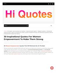 Women Empowerment Quotes By Hiquotes Issuu