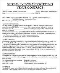 Venue Contract Template Catering Contract Sample In 2019 Event Planning Quotes