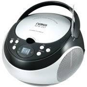 Naxa NPB251BK Portable CD Player with AM/FM Radio (Black) Image 1 of - Walmart.com