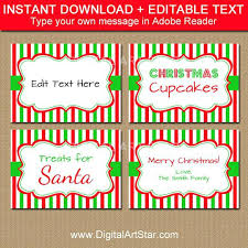 Avery 5162 Labels Printable Food Labels Tent Cards Place Christmas Template Avery 5162
