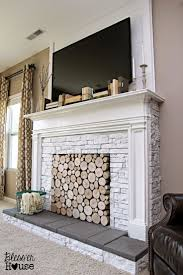 Build A Fake Fireplace Best 25 Fake Fireplace Logs Ideas On Pinterest Faux Mantle