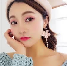 <b>2019 2019 New Arrival</b> Sweet Style Trendy Personality <b>Flower</b> Pearl ...