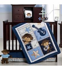 carters monkey rockstar 4 piece crib bedding set intended for