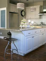 neutral transitional kitchen with white cabinets