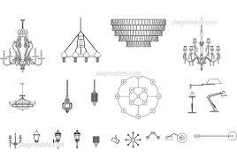 ls chandeliers cad blocks free dwg file