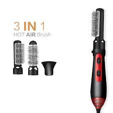 Hot Air Brush <b>3</b> in <b>1</b> Professional Hair Dryer Straightener Curler Iron ...