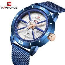 <b>NAVIFORCE Mens Watches</b> Sport <b>Watch</b> Mesh Steel Quartz <b>Watch</b> ...
