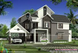 first floor area 1100 sq ft total area 2850 sq ft no of bedrooms 4 no of bathrooms 4 porch 1 balcony 2 design style sloping roof