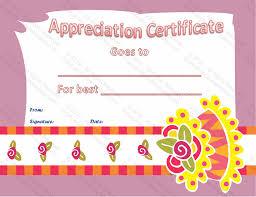 Best Certificate Templates Best Cake Baker Certificate Of Appreciation Template