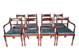 set of eight regency gany dining chairs