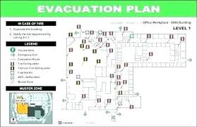 Evacuation Route Plate Map Free Emergency Building Plan