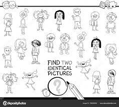 Bianco Nero Del Fumetto Trovare Due Immagini Identiche Gioco