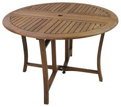 round eucalyptus folding dining table 43