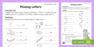 Preschool and kindergarten teachers as well as parents who homeschool their children can use this set of worksheets as a test once students have successfully completed a few of them. Missing Letters Worksheet Worksheet Teacher Made