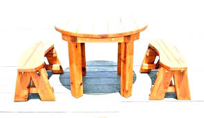 round wood picnic table small wooden picnic table small wooden outdoor e round cool wood patio round wood picnic table