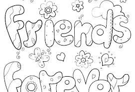 Best Friend Quotes Coloring Pages Friendship Miscellaneous Images