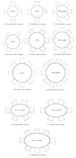 round table for 6 round table for 8 round table size for 6 8 person table