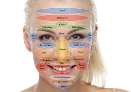 Akupunkturpunkte gesicht karte