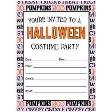 Amazon Com Teen Costume Party Halloween Invites Envelopes Pack