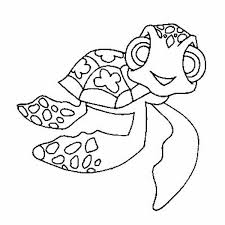 Small Picture Mini Nemo Sea Turtle free Coloring Page Download Print Online
