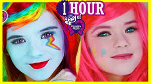 1 hour my little pony makeup tutorials play doh rainbow dash equestria doll kittiesmama you