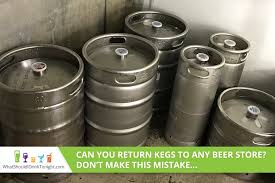 can you return kegs to any beer