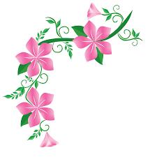 new pink flower corner design tr
