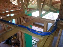 wiring up a new house ethernet a walk through reckoner a cable left loose in the roof space for future expansion