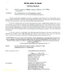 30 day notice to vacate letter landlord template move out fresh printable sle tenant