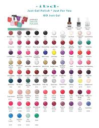 Ibd Just Gel Colour Chart Pin By Toni Rodriguez On Nails Beauty In 2019 Nail