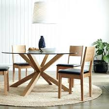 oak and glass round dining table best glass round dining table ideas on glass round glass