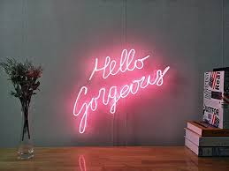neon lighting for home. Projects Ideas Neon Signs For Home Decor Excellent Decoration Amazon Com Hello Gorgeous Real Glass Sign Lighting