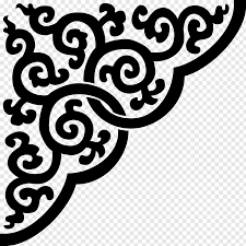 Design Black And White Art Stencil Black And White Ornament Designs Png Pngwave